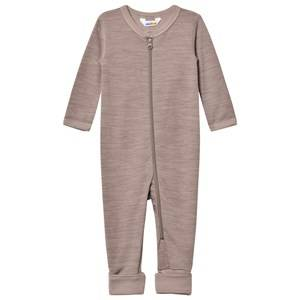 Joha Unisex All in ones Brown Light Brown Wool and Organic Cotton One-Piece