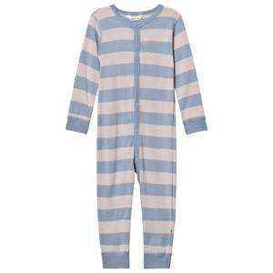 Joha Unisex All in ones Blue Wide Striped One-Piece Blue