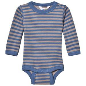 Joha Unisex All in ones Blue Long Sleeve Striped Baby Body Blue