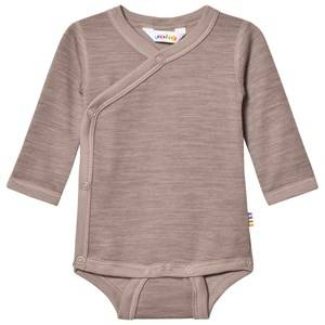 Joha Unisex All in ones Brown Light Brown Organic Cotton Wrap Body