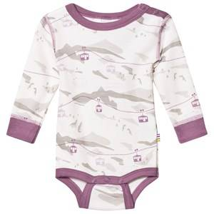 Joha Unisex All in ones Purple Cable Car Long Sleeve Baby Body Purple