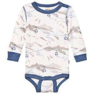 Joha Unisex All in ones Blue Cable Car Long Sleeve Baby Body Blue