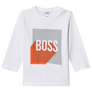 Boss Boys Tops White White Graphic Logo Print Tee