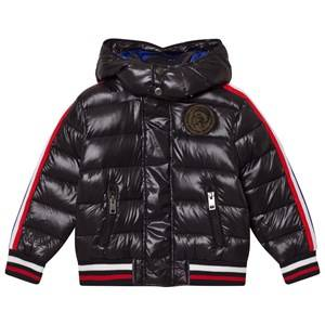 Diesel Unisex Coats and jackets Black Black Puffer Jacket with Hood