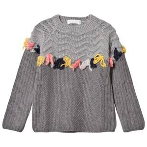 Stella McCartney Kids Girls Jumpers and knitwear Grey Tangerine Grey Tassel Jumper