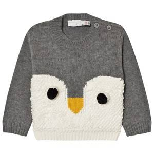 Stella McCartney Kids Unisex Jumpers and knitwear Grey Grey Ira Knit Penguin Jumper