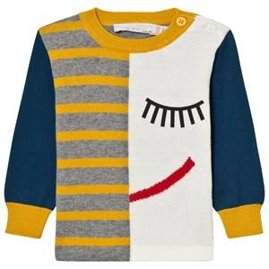 Stella McCartney Kids Girls Jumpers and knitwear Multi Blue Lucky K Jumper Intarsia Face