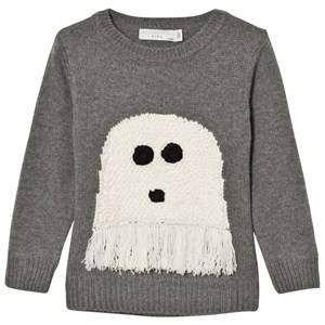 Stella McCartney Kids Boys Jumpers and knitwear Grey Grey Ghost Intarsia Jumper