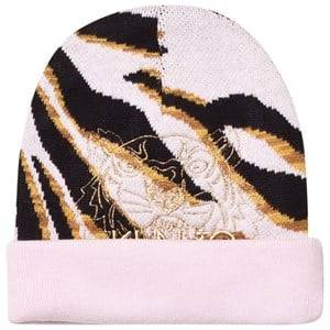 Kenzo Girls Headwear Pink Pink Tiger Embroidered Beanie