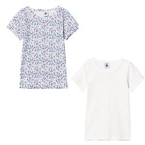 Petit Bateau Unisex Tops White Cotton T-Shirts (2 Pack)
