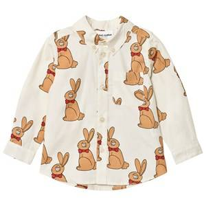 Mini Rodini Boys Tops White Rabbit Shirt Off White