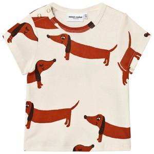Mini Rodini Unisex Tops White Dog Tee Off White