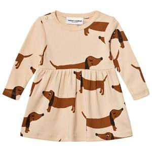 Mini Rodini Girls Dresses Beige Dog Dress Beige