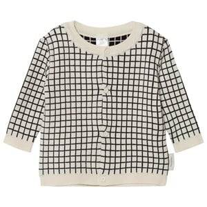 Tinycottons Unisex Jumpers and knitwear Beige Grid Cardigan Beige/Black