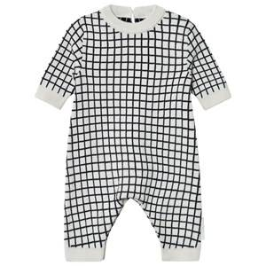Tinycottons Unisex All in ones Beige Grid One-Piece Beige/Black