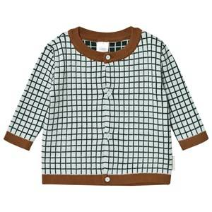 Tinycottons Unisex Jumpers and knitwear Blue Grid Cardigan Light Blue/Dark Navy