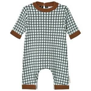Tinycottons Unisex All in ones Blue Grid One-Piece Light Blue/Dark Navy
