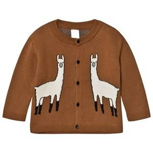 Tinycottons Unisex Jumpers and knitwear Brown Llama Cardigan Brown/Beige