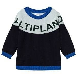 Tinycottons Unisex Jumpers and knitwear Blue Altiplano Sweater Oversized Dark Navy/Light Blue