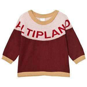 Tinycottons Unisex Jumpers and knitwear Altiplano Sweater Oversized Bordeaux/Pale Pink