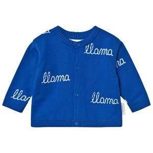 Tinycottons Unisex Jumpers and knitwear Blue Llama Knit Cardigan Blue/Light Blue