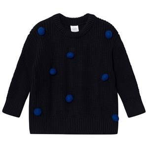 Tinycottons Unisex Jumpers and knitwear Blue Pom Poms Sweater Oversized Dark Navy/Blue