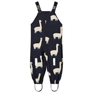 Tinycottons Unisex Bottoms Blue Llamas Snow Pants Dark Navy/Beige