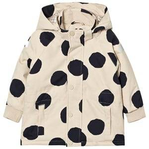 Tinycottons Unisex Coats and jackets Beige Pom Poms Snow Jacket Beige/Black