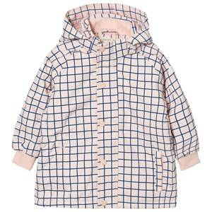Tinycottons Unisex Coats and jackets Pink Grid Snow Jacket Pale Pink/Blue.