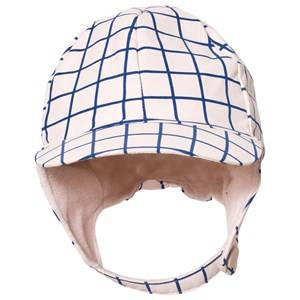Tinycottons Unisex Headwear Pink Grid Snow Hat Pale Pink/Blue
