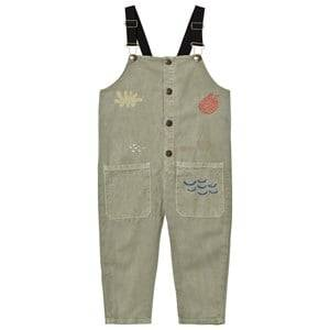Bobo Choses Unisex All in ones Green Sea Junk Overalls