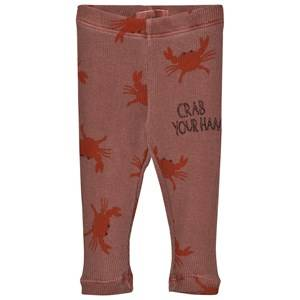 Bobo Choses Unisex Bottoms Brown Baby Leggings Crab Your Hands
