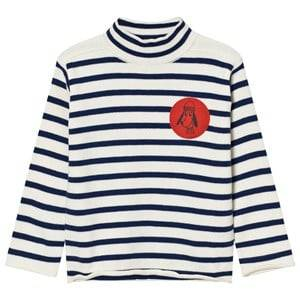 Bobo Choses Unisex Tops White Turtle Neck Jumper Loup de Mer