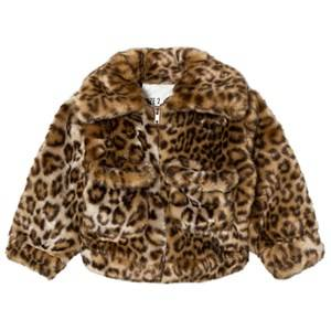 Caroline Bosmans Unisex Coats and jackets Yellow Fake Fur Jacket Leopard