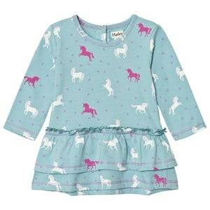Hatley Girls Dresses Green Mint Horse Layered Dress
