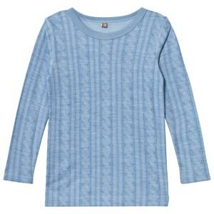 Hust&Claire; Boys Tops Blue Cable T-Shirt Blue Dawn