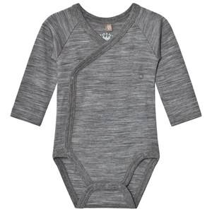 Hust&Claire; Unisex All in ones Grey Marled Wrap Body Wool Grey