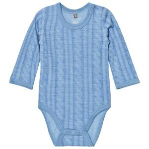Hust&Claire; Boys All in ones Blue Cable Baby Body Blue Dawn