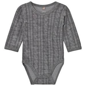 Hust&Claire; Unisex All in ones Grey Cable Baby Body Wool Grey