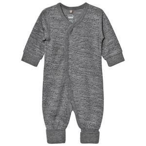 Hust&Claire; Unisex All in ones Grey Spotted One-Piece Wool Grey