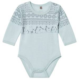 Hust&Claire; Unisex All in ones Blue Fairisle Baby Body Winter Sky