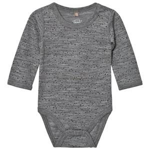 Hust&Claire; Unisex All in ones Grey Spotted Baby Body Wool Grey