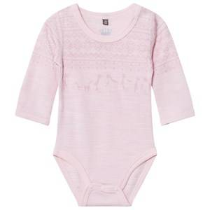 Hust&Claire; Girls All in ones Pink Fairisle Baby Body Rose