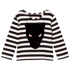 BANG BANG Copenhagen Girls Tops Black Black/White Stripe Panther Stripe Tee