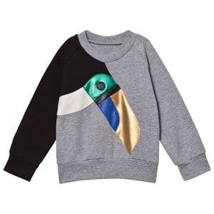BANG BANG Copenhagen Girls Jumpers and knitwear Grey Grey Toucan Applique Sweatshirt