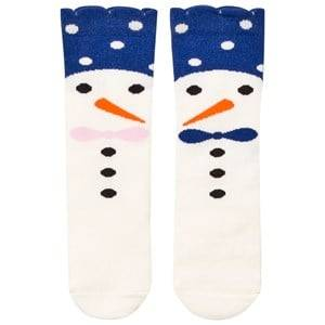 BANG BANG Copenhagen Girls Underwear Blue Blue Snow Family Knee Socks
