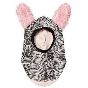 BANG BANG Copenhagen Girls Headwear Grey Black/White Fluffy Ear Curious Balaclava