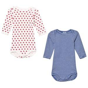 Petit Bateau Unisex All in ones White Sailor Baby Bodies (2 Pack)