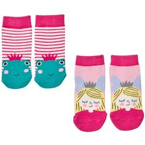 Tom Joule Girls Underwear Pink 2 Pack Princess/Frog Socks
