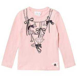 Le Chic Girls Tops Pink Pink Diamond Chain Tee